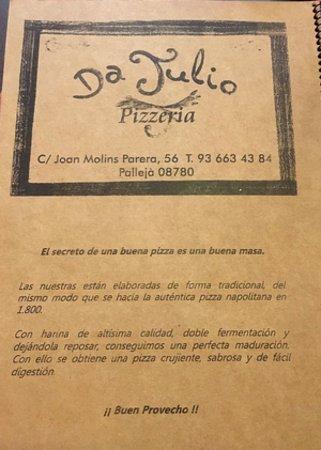 Palleja, Испания: Carta
