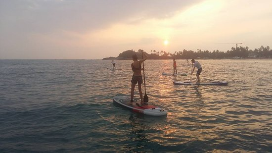 SUPer Juice Bar & Paddleboard Hire: And they're off - Sunset Session - Unawatuna Bay