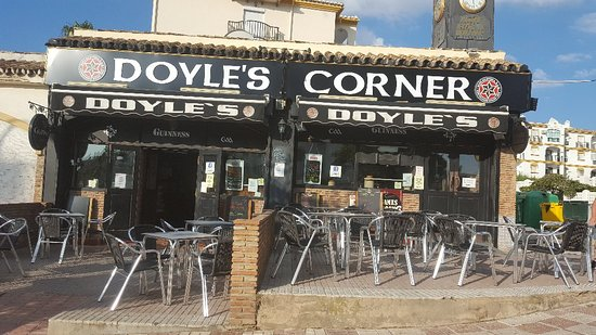 Doyles Corner: Our new signs and side terrace. We are  back open