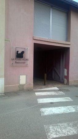 Albon, France: entrada a la terraza
