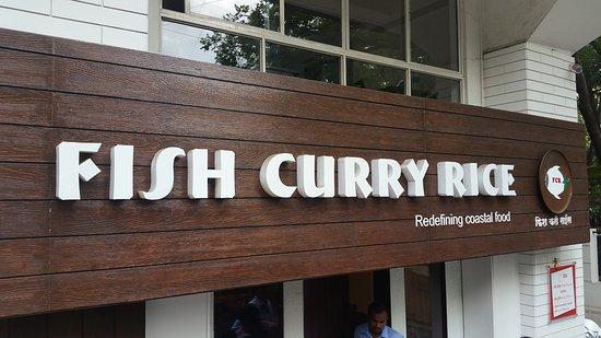 Fish Curry Rice : name board