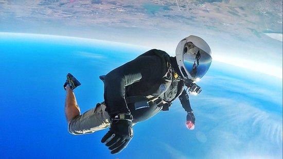 Johannesburg Skydiving Club: Looks like a space cowboy