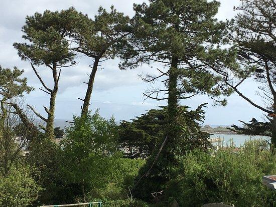 Plougasnou, France: Voici la vue que nous avions de notre chambre.