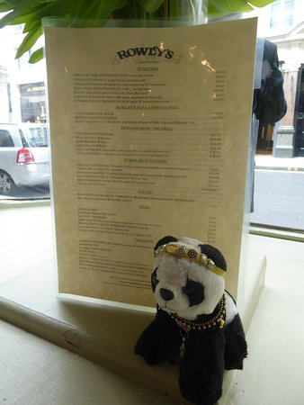 Rowley's: Don't tell panda this used to be a butchers window!