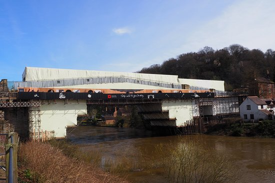 Museum of the Gorge: iron bridge being restored in April 2018