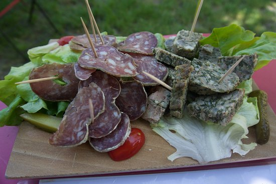 Markus Bière: A plate of local charcuteries.