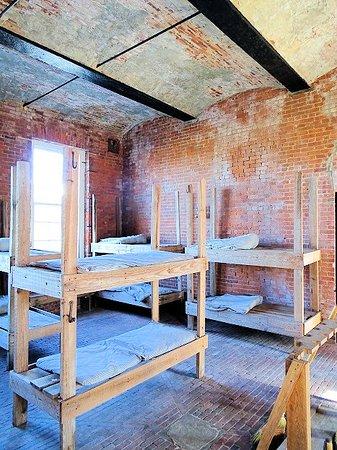 Fort Clinch State Park: inside enlisted men barracks