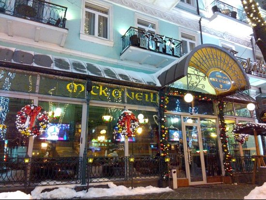 Mick O'Neills IRISH PUB and SPORTS BAR: Welcome! its cold outside! Come in!