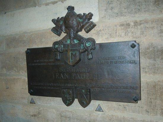Metz Cathedral: Plaque mémorial