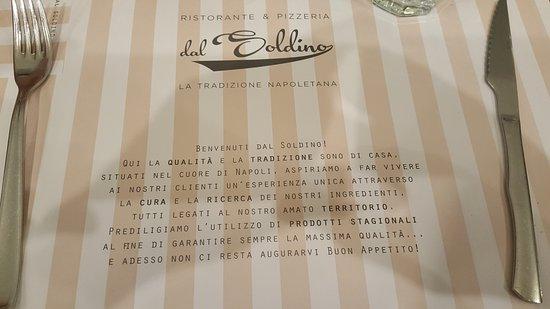 Ristorante Pizzeria Dal Soldino: Il coperto