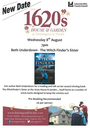 Sutton Cheney, UK: Witch Finder's Sister Talk Poster