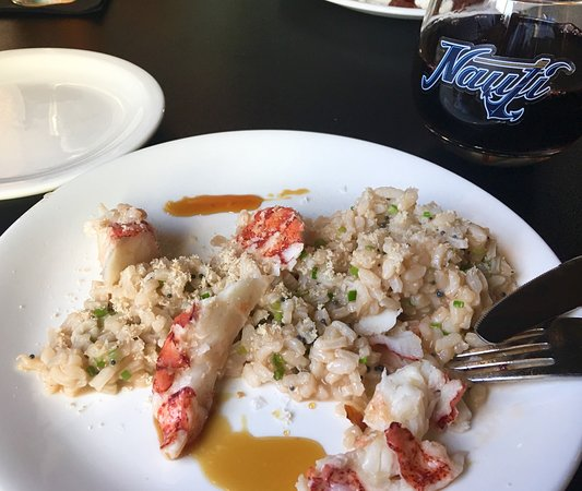 The Nauti Inn Barstro: Creative preparations: Butter Poached Lobster Risotto w/ Sherry Gastrique