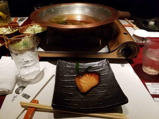 Tavern with private dens Banya Akasaka: Smoked Salmon! I loved this one
