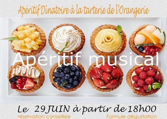 Maine et Loire, Frankrike: Apéritif Musical le 29 juin en terrasse à partir de 18h. Nous recommandons de réserver votre ver
