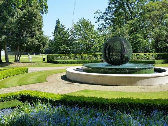 fountain by the cricket - The Hurlingham Club Ranelagh Gardens London Sw6 3pr