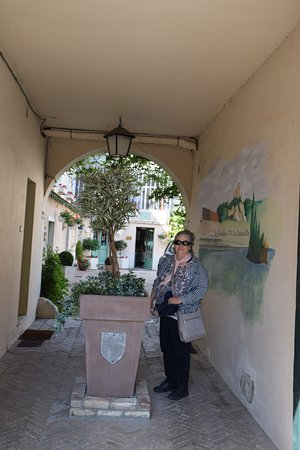 Hotel-Restaurant La Chaine d'Or: walkway from street into courtyard