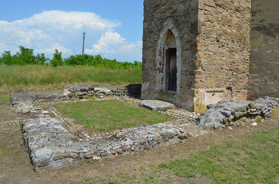Dormition of the Theotokos Church: Strei Church - Tower entrance and roman villa ruins