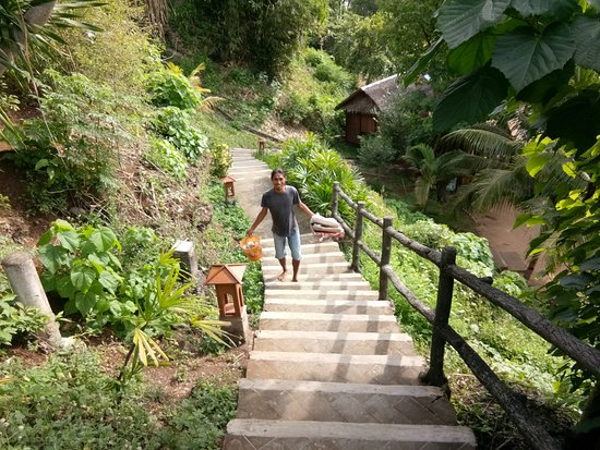 Living Colours Dive Resort: Lots of stairs to climb to get to your bungalow. Good exercise!