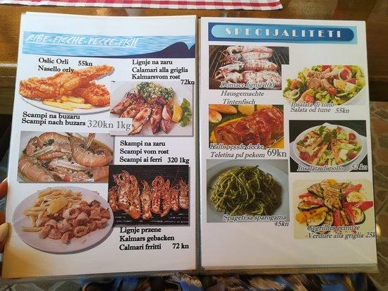 Sveti Juraj, Croatia: I order fish skup And mix vegetables