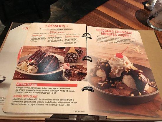 Camden, DE: Cheddar's  Dessert Menu