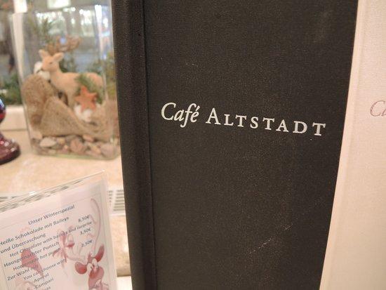 Café Altstadt Salzburg: Menu.
