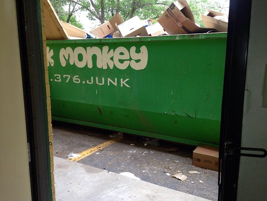 Quality Inn East: again, dumpster right outside the door to our room