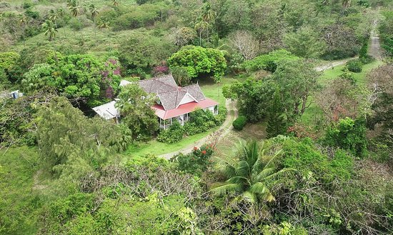 Laborie, Sta. Lucía: Plantation House arial