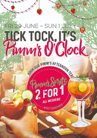 Slug & Lettuce : Tick! Tock! It's Pimms O'Clock! Enjoy the benefits of great views, good food and colourful Cockt