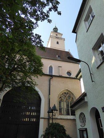 Moritzkirche und Pfeifturm: Church Exterior and Tower