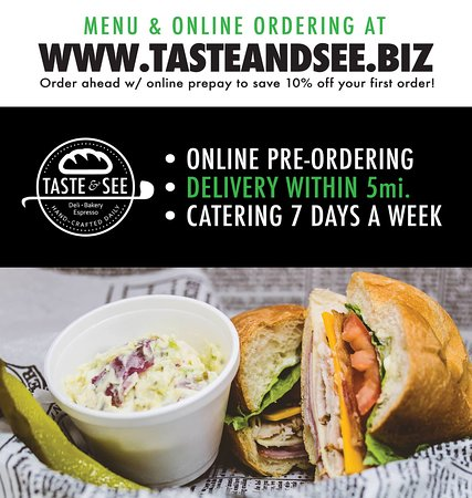 Taste & See Deli: Online delivery and ordering available!