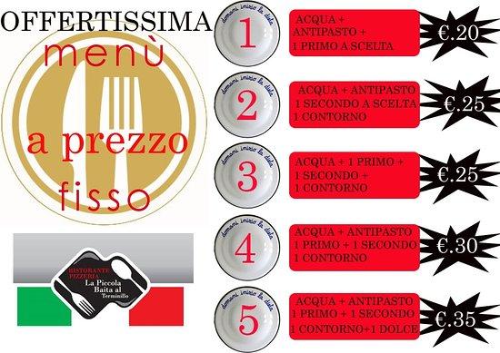 Monte Terminillo, Italië: Da una settimana abbiamo attuato un menù primavera, per agevolare i nostri clienti. Chiedetelo