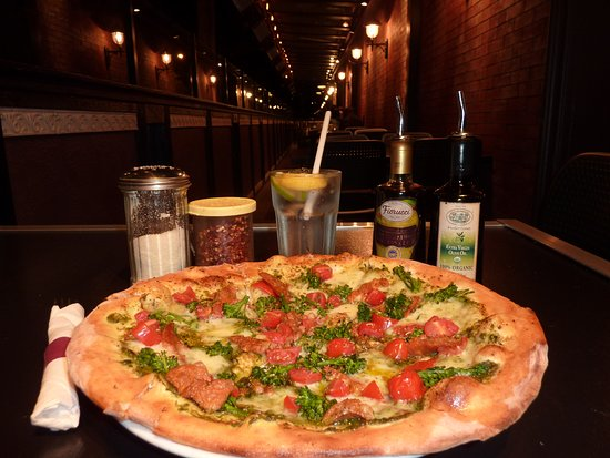 Marcello Pizzeria: Enjoy your pizza on our outdoor patio