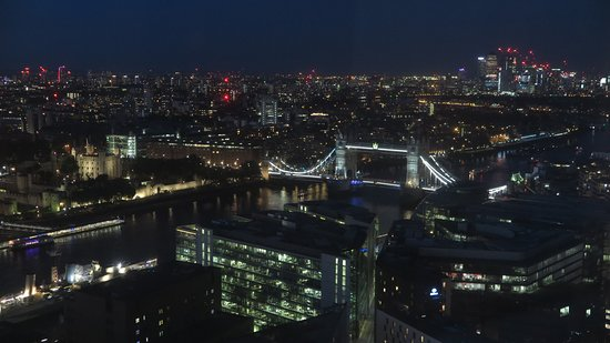 Night views from Oblix East, in the Shard building. London