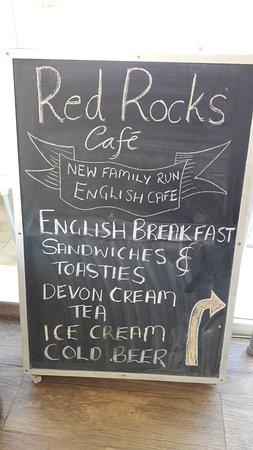 Red Rocks Cafe Sign