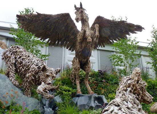 RHS Chelsea Flower Show: Pegasus the flying horse