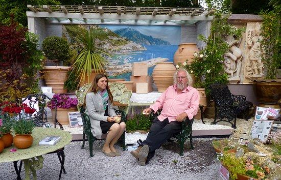 RHS Chelsea Flower Show: Standholders relaxing
