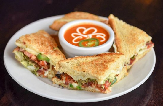 Mo's Irish Pub: Made in-house, fresh Jalapeno Grilled Cheese and Tomato Soup