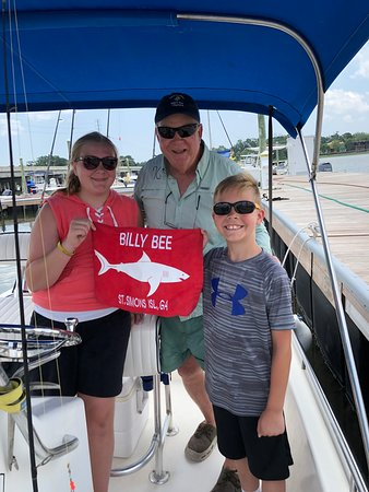 Kids Fishing Billy Bee Charters: Everyone gets supper tonight!
