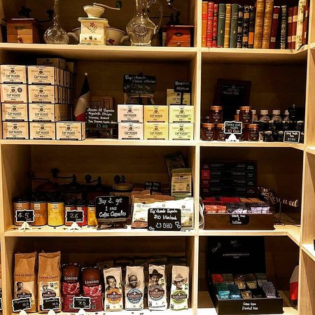 Cafe Chantilly: Café Chantilly's shelves is the only place where you can find 19 of the best culinary French bra