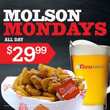 St. Louis Wings and Ribs : Molson Mondays