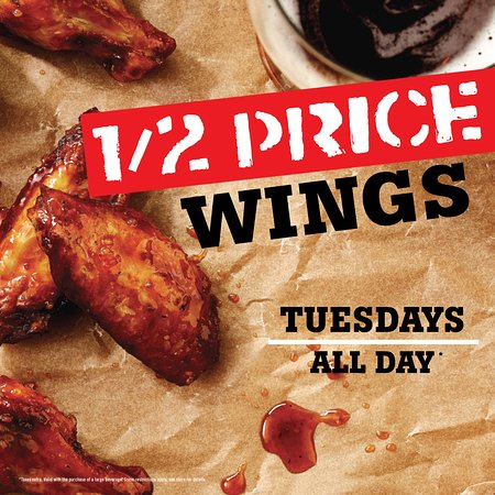 St. Louis Wings and Ribs : 1/2 Price Wings every Tuesday!!