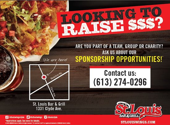 St. Louis Wings and Ribs : We Sponsor Teams! Ask your server for details