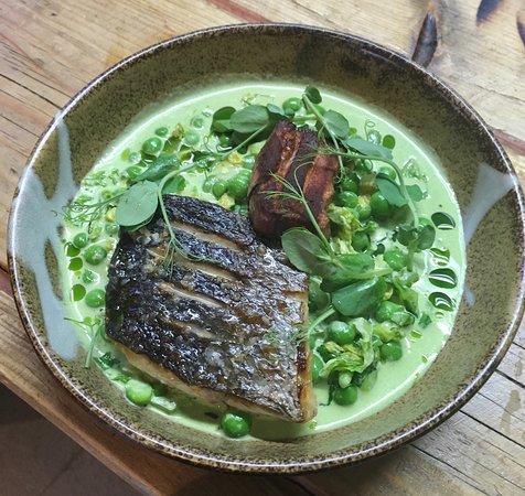 Norbert : Sea Bass with Alsace Bacon