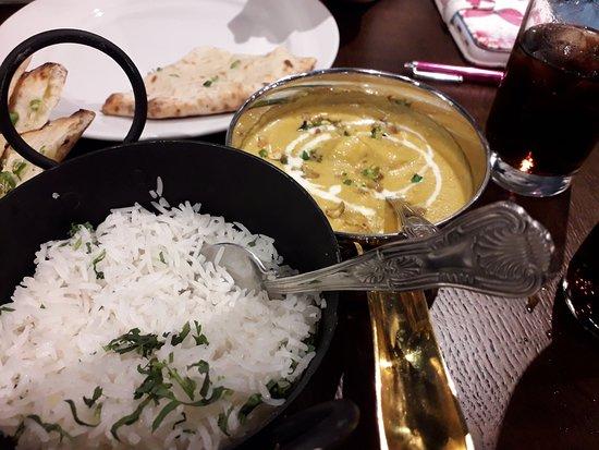 Namaste Sandwich : Korma and Steamed Rice