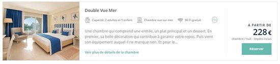 Iberostar Selection Diar El Andalous: Description de leur site de la chambre réservée