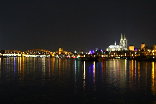 Hohenzollern Bridge: Cologne at Night on the Rhine