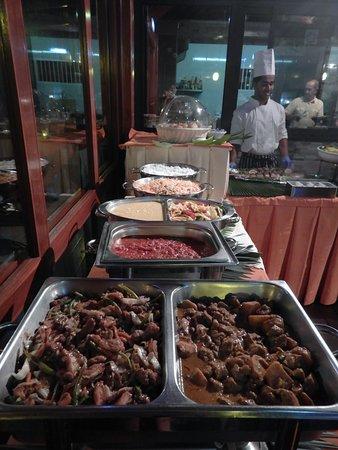 Villas de Mer : Buffet créole