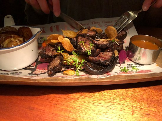 Matarkjallarinn - Foodcellar : Steak and mushrooms