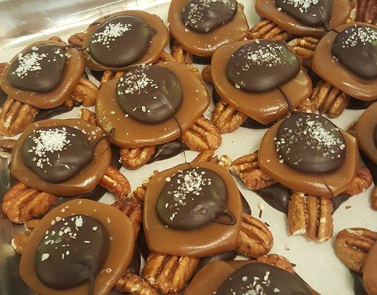 Fairhope Chocolate: Dark Turtles with Sea Salt