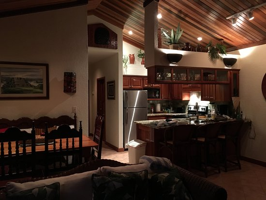 Banyan Bay Suites: Main living area. Kitchen, dining, living room, and hallway to bedrooms.